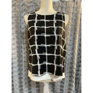 TopShop Tank Top Black and White Women's Size 10